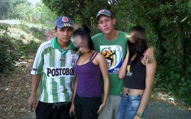 El sospechoso Johan Andrey R.P. (a la izquierda) y la víctima