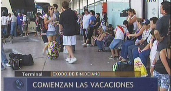 Intenso movimiento en la terminal de ómnibus y pasajes a la Costa agotados para el 1º de enero