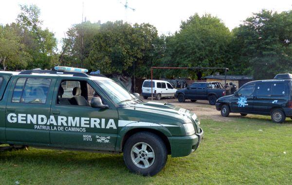 Gendarmería realizó nuemrosos operativos en Rosario en conjunto con fuerzas nacionales y provinciales. (foto: Angel Amaya)