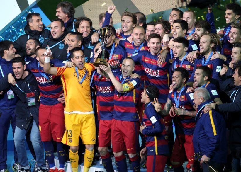 La fiesta fue de Barcelona. Suárez
