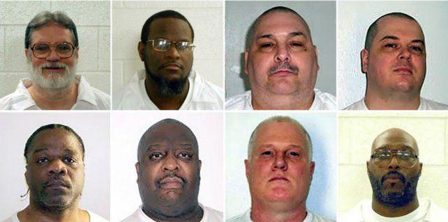 Los presos que están en el corredor de la muerte. Sus ejecuciones iban a empezar esta semana.