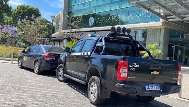 Uno de los 15 allanamientos realizados en Rosario se llevó a cabo esta mañana en un estudio contable en el edifició Alto Buró.
