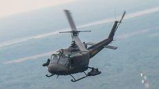 Catorce helicópteros surcaron el cielo rosarino en pleno viaje hacia Campo de Mayo.