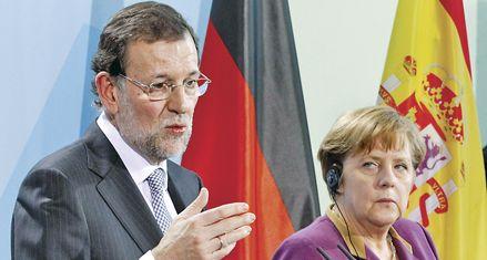 Merkel da un fuerte respaldo a las reformas económicas de Rajoy