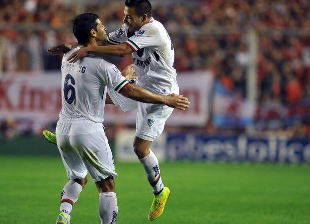 Leonardo Rolón festeja su inesperado gol. Foto: Télam.
