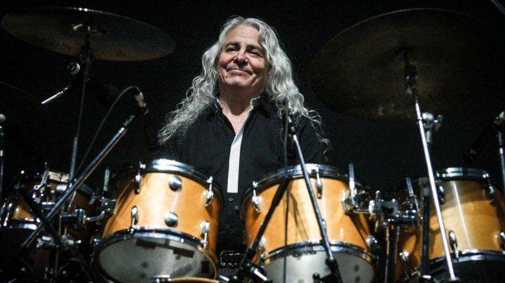 Eterno Rodolfo García. El baterista integró Almendra y Aquelarre, y también tocó en la banda de Víctor Heredia y junto a Pedro y Pablo.