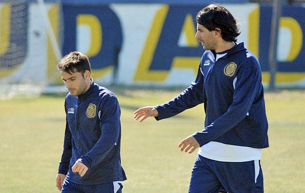 Socios. Niell y Abreu conformarán la dupla de ataque frente a los sabaleros. Jugaron juntos en Figueirense de Brasil. (Foto: A. Celoria)