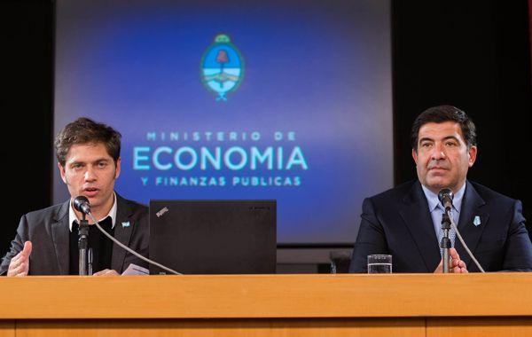 Axel Kicillof y Ricardo Echegaray
