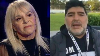 Claudia Villafañe y Diego Maradona, una relación que tuvo luces y sombras.