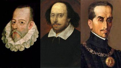 Miguel de Cervantes Saavedra, William Shakespeare e Inca Garcilaso de la Vega, escritores fallecidos el 23 de abril del 1616.