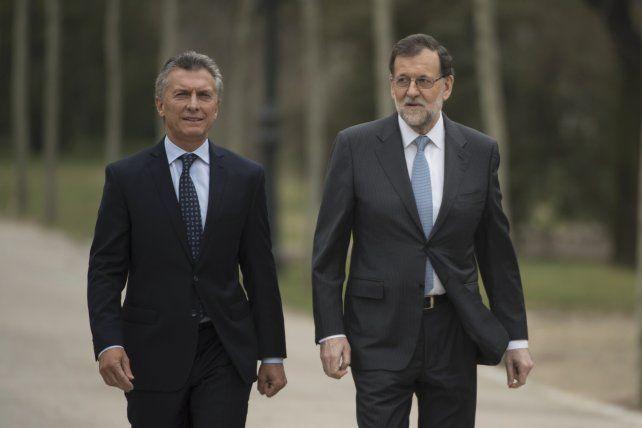 Macri y Rajoy hablaron de vínculo estratégico entre Argentina y España