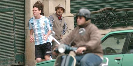 Messi rodó un spot publicitario en Rosario y desmintió su romance con Luciana Zalazar
