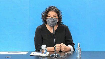 Carla Vizzotti, ministra de Salud de Nación