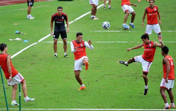 Distendido. Teo Gutiérrez es la carta de gol del conjunto millonario.
