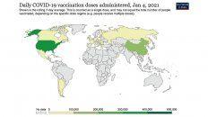 Argentina ocupa el puesto 7 en un ranking mundial de mayor cantidad de vacunados por millón de habitantes, superando a Italia, Estonia, Canadá, Polonia, China, México y Francia.