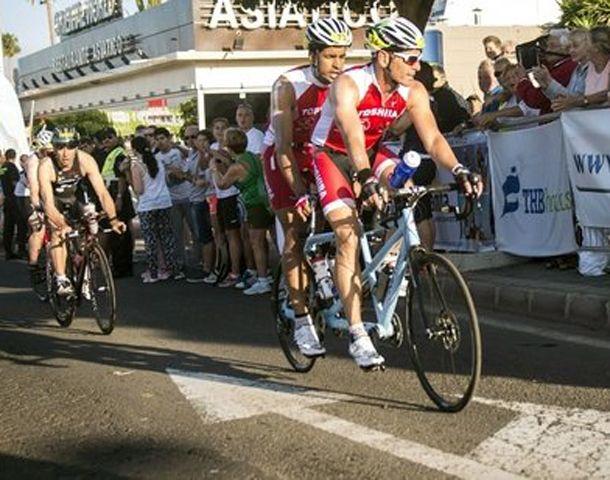 El nadador nacido en las Islas Canrias finalizó el Ironman de Lanzarote.