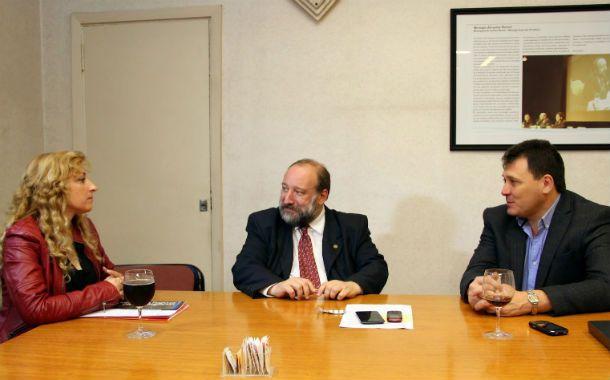 Extensión. Darío Maiorana y el intendente Raimundo acordaron un plan.