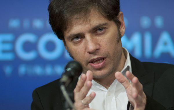 """Kicillof. El ministro de Economía advirtió que los especuladores """"están timbeando de nuevo"""" con una inflación."""