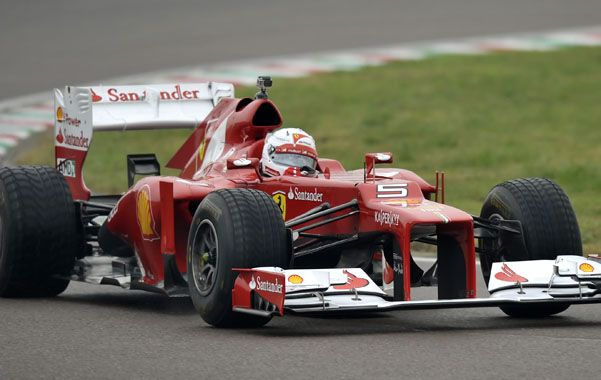 Extasiado. El heptacampeón mundial disfrutó conducir el modelo F2012.