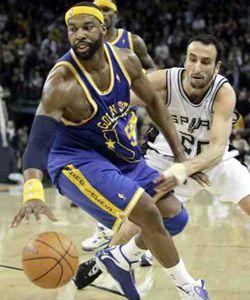 Ginóbili sumó 20 puntos pero los Spurs cayeron en alargue ante Golden State