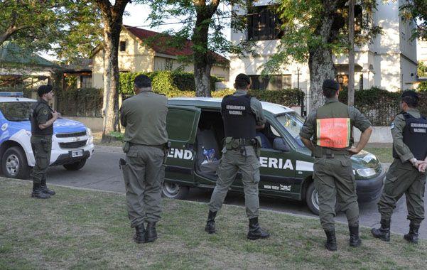 Custodiado. La vivienda de Bonfatti es vigilada por Gendarmería.