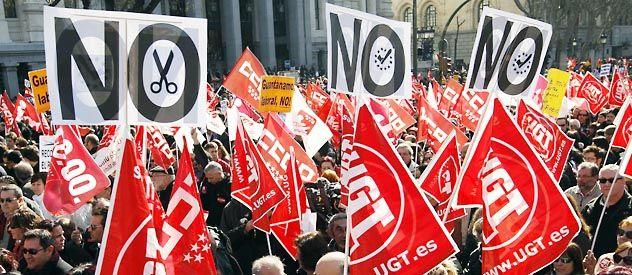 El no a los recortes es la consigna de las protestas callejeras que se multiplican en España.