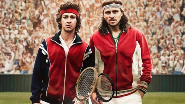 réplicas. Shia LaBeouf y Sverrir Gudnason encarnan a las dos legendarias figuras del tenis internacional.