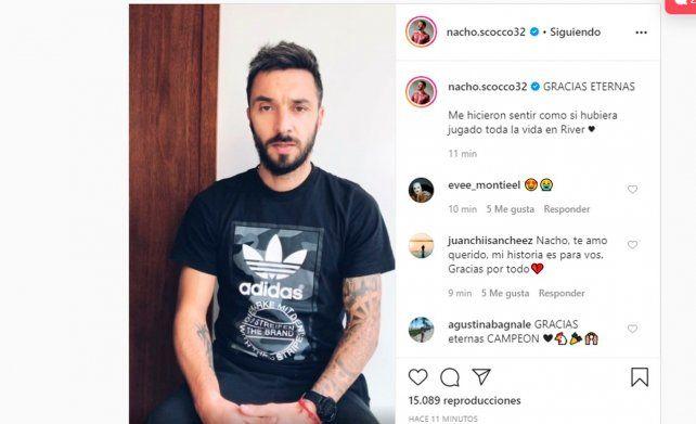 Nacho Scocco les habló a los millonarios a través de su cuenta de Instagram.
