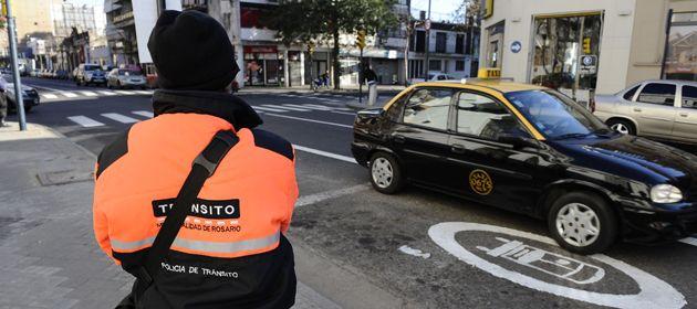 El carril exclusivo debutó en calle Córdoba en julio de este año.