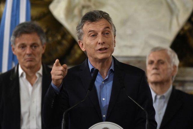 Macri firmó ayer un acuerdo para impulsar las energías renovables.