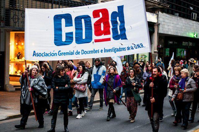 Los docentes universitarios nucleados en la Coad.