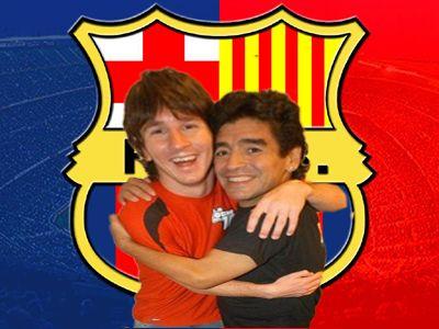 Maradona y Messi forman parte del equipo histórico del Barcelona