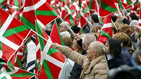 Históricas demandas. Manifestación nacionalista en País Vasco.