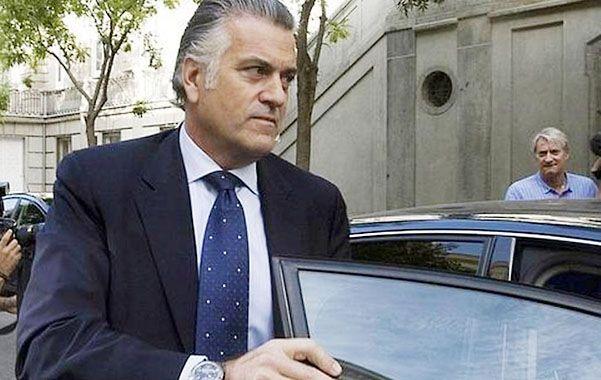 """Luis Bárcenas en una """"visita"""" a los tribunales españoles."""
