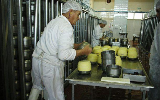 Contracción. La producción de lácteos cayó 36