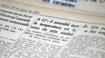 Fragmento de la página del Diario La Capital del viernes 22 de enero de 1943.