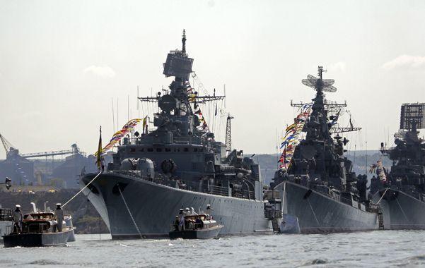 En alerta. Imagen de archivo de la flota de la armada rusa estacionada en el estratégico puerto de Sebastopol.