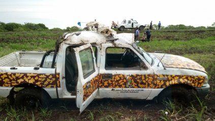 Violento choque: Bora embistió un móvil que terminó volcando