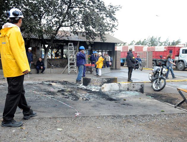 El incendio provocó graves destrozos en la planta de General Lagos. (Foto: E. Rodríguez Moreno)
