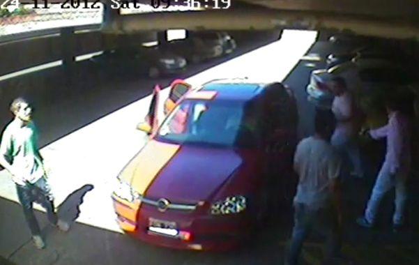 Al volante. Ojudo Treves condujo el Chevrolet Astra tras el homicidio .