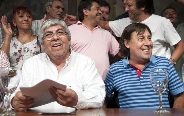 Moyano habló en conferencia de prensa desde la CGT junto a Pablo Micheli