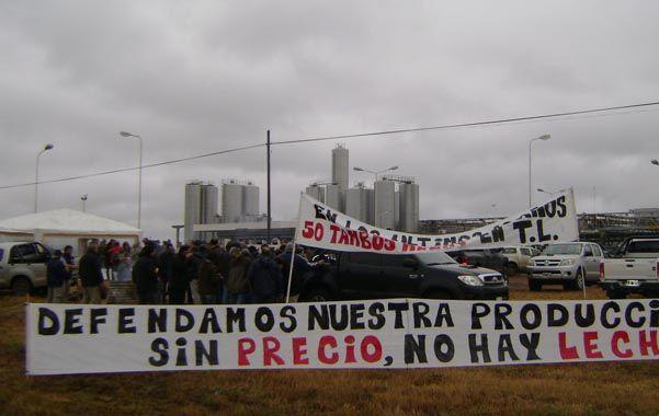 Piquete. Una de las protestas que hubo este año en la cuenca lechera.
