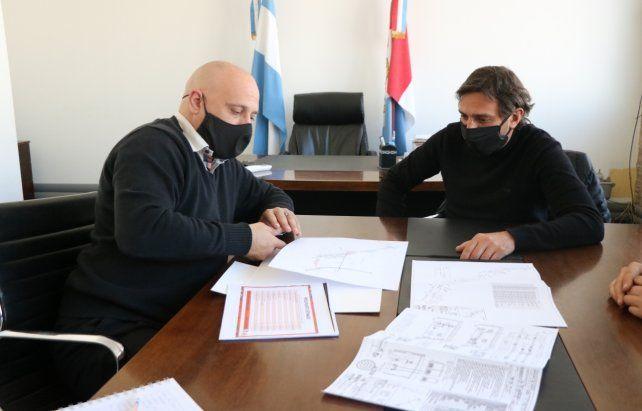 Firma. El presidente comunal Massón se reunió con D'Angelosante.