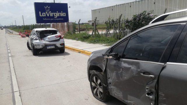 Nueve heridos en un choque múltiple en Circunvalación
