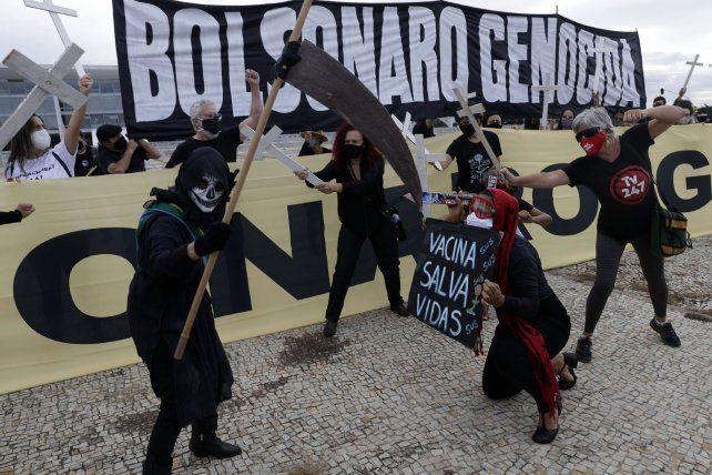 La protesta en Brasilia que derivó en cuatro arrestos por la aplicación de la ley de la dictadura.