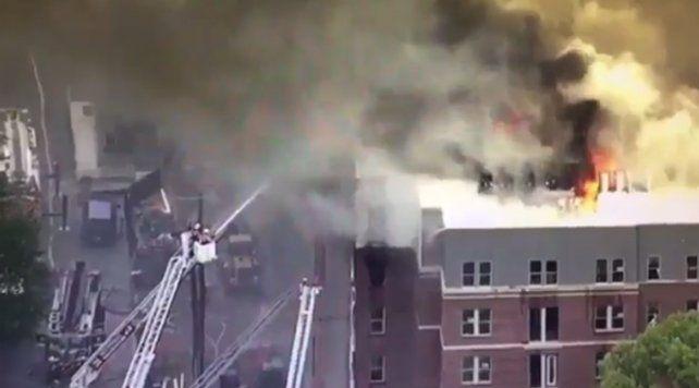 Un voraz incendio causó alarma entre los estudiantes de la Universidad de Maryland