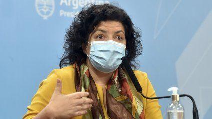 La ministra de Salud Carla Vizzotti confirmó que se completará el esquema de vacunación de los inoculados con la pirmera dosis de la Sputnik V.