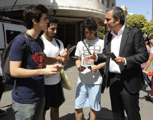 El diputado nacional del Frente Renovador argumentó ante los jóvenes su rechazo al anteproyecto de nuevo Código Penal. (Foto: S. Toriggino)