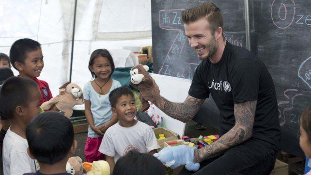 Beckham participó en varias campañas de Unicef.