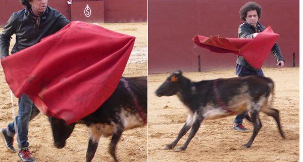 Andrés Calamaro jugó a ser torero y salvó una vaca del matadero
